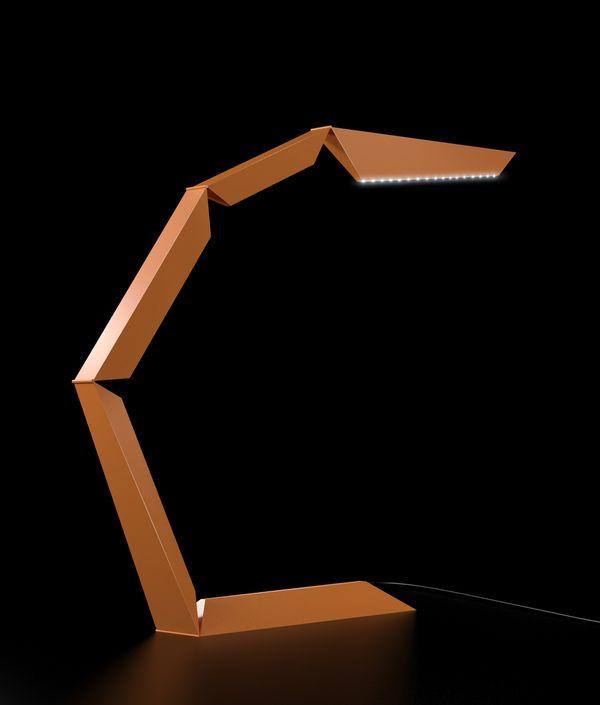 Phalanx LED table lamp on Industrial Design Served