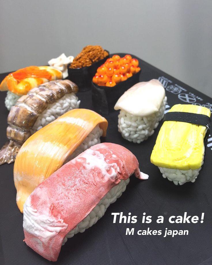 お寿司🍣ケーキ✨ 一貫一貫ケーキです。普通のお寿司と大体同じくらいの大きさ 、ちょっと大きいかも😋  #お寿司 #お寿司ケーキ #海鮮 #北海道 #小樽 #ケーキ #誕生日ケーキ #面白ケーキ #手作りケーキ #手作り #お米 #寿司ネタ #お寿司食べたい #sushi #sushilovers #sushicake #alledible #japan #hokkaido #otaru #cake #handmade #gateau #torte #🇯🇵