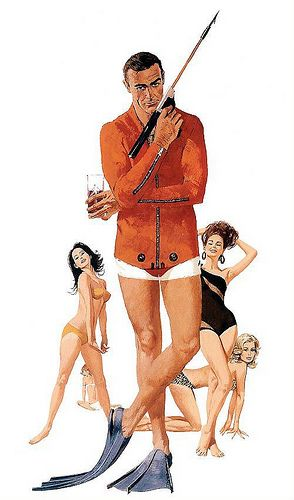 "[James Bond] ""Thunderball"" by Robert McGinnis. #robertmcginnis"