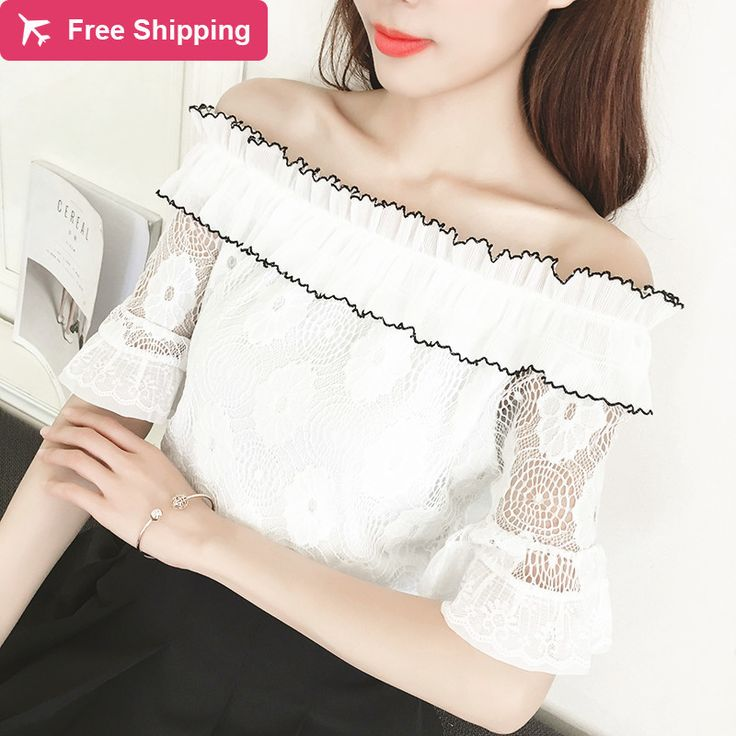 >> Click to Buy << White Lace T Shirt Women Tops Ruched Hem Ruffles Petite Tee Shirt Femme Chemise Renda Camiseta Feminina Camisa Mujer Summer #Affiliate