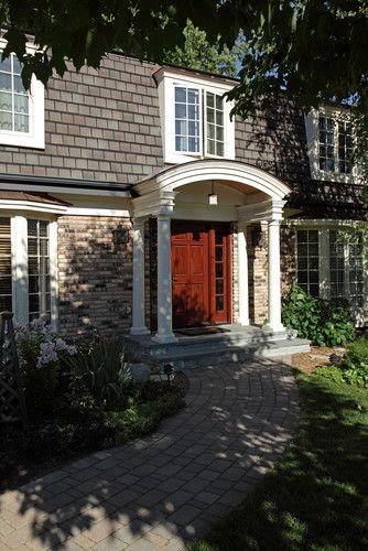 Best 25 mansard roof ideas on pinterest house porch - Colonial house exterior renovation ideas ...