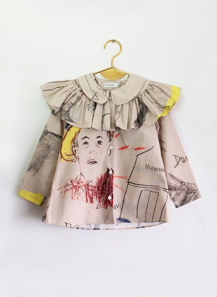 Wolf and Rita Blouse Alzira in Face Print – Hello Alyss - Designer Children's Fashion Boutique