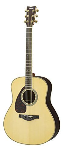 Yamaha L-Series LL16RL Left-Handed Dreadnought Acoustic-Electric Guitar w/ Case, Natural ** Read more at the image link.