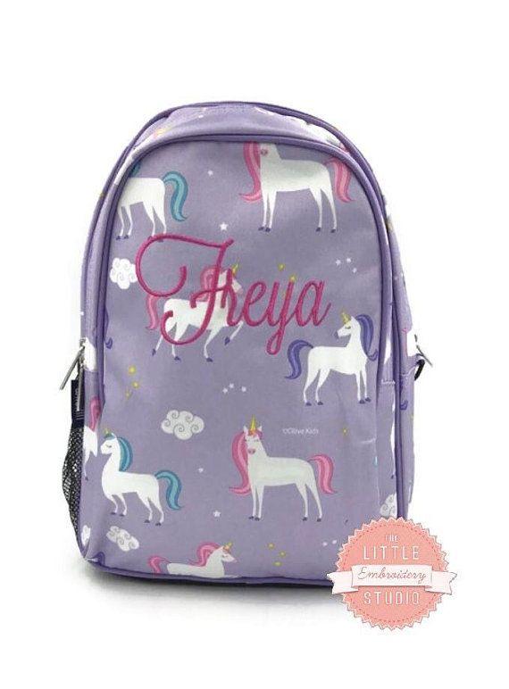 PERSONALISED KIDS BACKPACK UNICORN GIRLS BACK TO SCHOOL NURSERY BAG RUCKSACK
