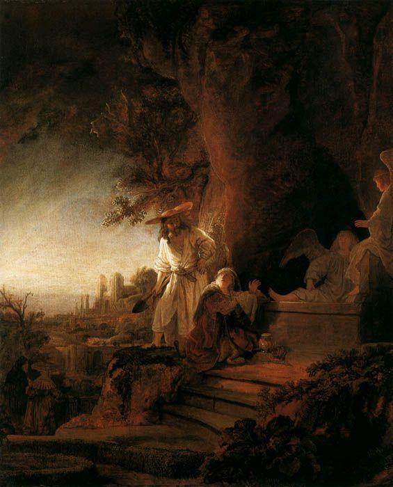ArtBible.org: Rembrandt - El Cristo Resucitado se aparece a María Magdalena (1638)