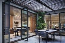 Patio of Fifth Avenue Penthouse  Outdoor Room  Dining  Contemporary  Modern  Patio  Porch by Thad Hayes