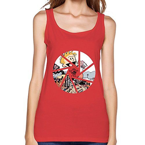 LIHOO Lady Calvin And Hobbes T Shirts Red Size XXL @ niftywarehouse.com #NiftyWarehouse #Nerd #Geek #Entertainment #TV #Products