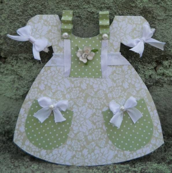 Dress card for baby.
