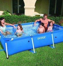 Het is weer zomer! Tijd voor een zwembad! Bijvoorbeeld deze Intex 28270NP Rechthoekig Framebad 220x150x60cm