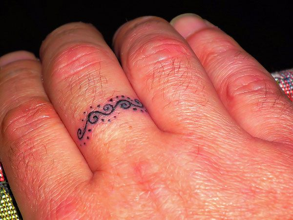 tattoo ring finger designs | 27 Original Ideas of Original Cool Small Tattoos - SloDive