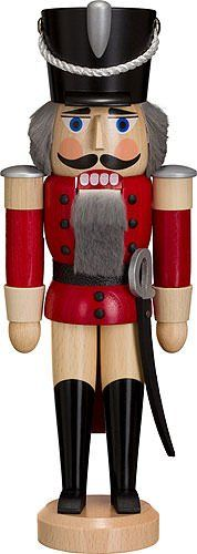 Nutcracker hussar ashtree red height 28 cm  11 inch original Erzgebirge by Seiffener Volkskunst -- You can get additional details at the image link.