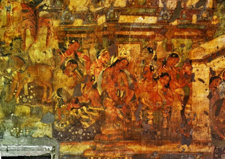 1000 images about india on pinterest ajanta caves for Ajanta mural painting