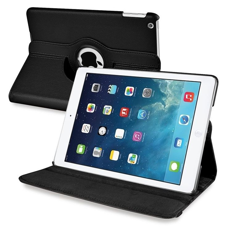 Insten 360-degree Swivel Stand Leather Tablet Case Cover for Apple iPad Air #1542813