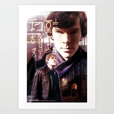 Sherlock - The Ancient Code Art Print by T.Wolv - $17.99
