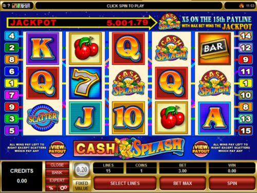 Play   Cash Splash 5 Reel