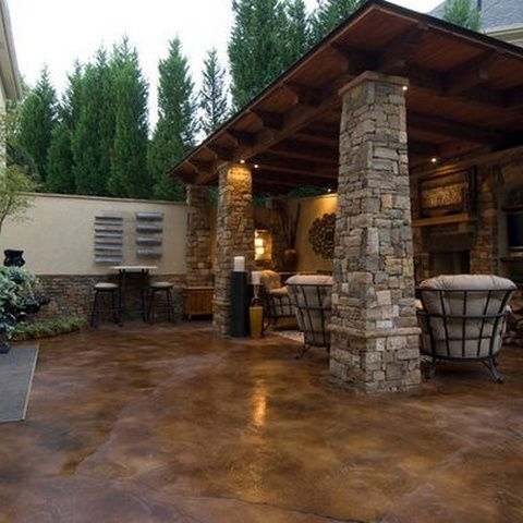 Stained Concrete Patio Ideas Home Amp Garden Pinterest