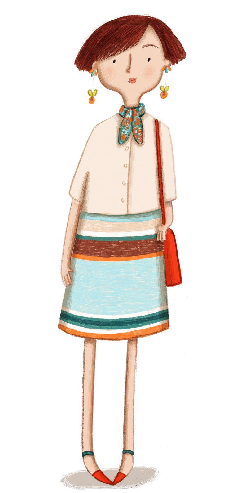 Kristyna Litten© Women in stripy skirt