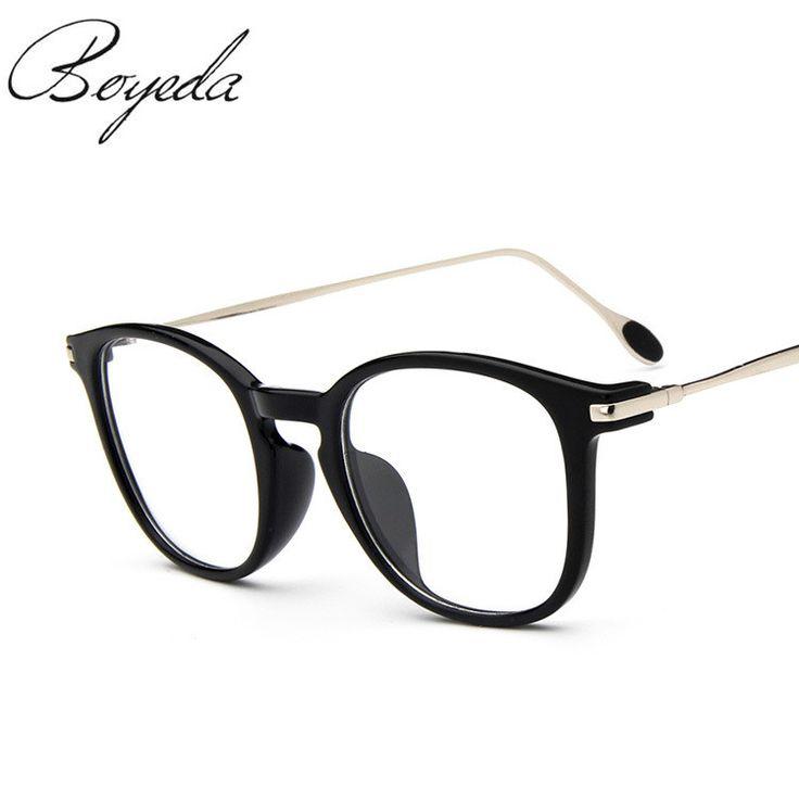 Brand Women Retro Eyeglasses Man Optical Fashion Round Plain Glass Frames Reading Glasses Oculos de Grau Feminino Metal