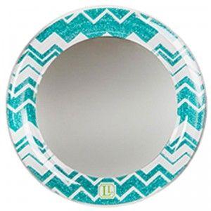 LockerLookz Acrylic Magnetic Locker Mirror Blue Chevron from LockerLookz Limited