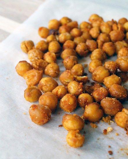 gezonde snack: geroosterde kikkererwten