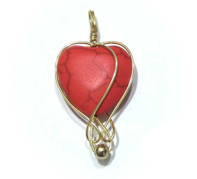 Red heart pendant ROMANTIC GIFT from betulek by DaWanda.com