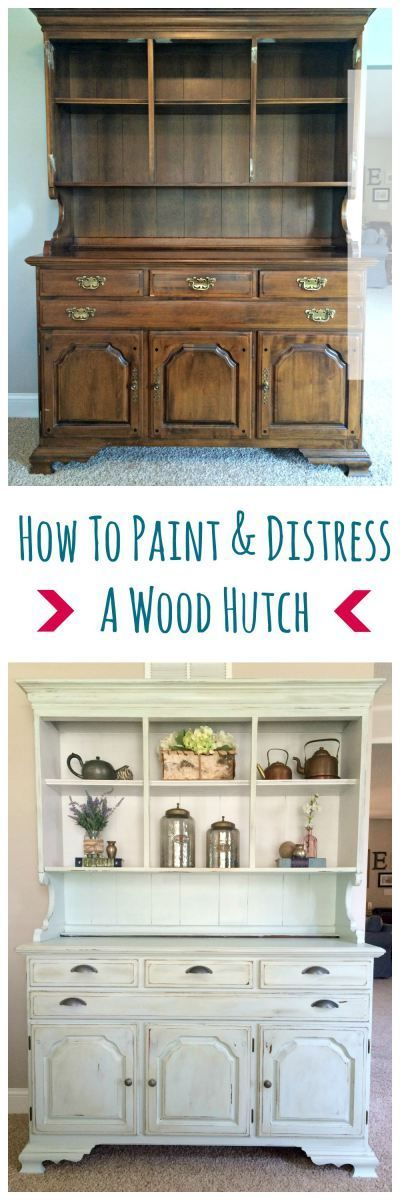 Awesome Post From Sobremesa Stories On How To Paint A Wood Hutch. The Final  Product