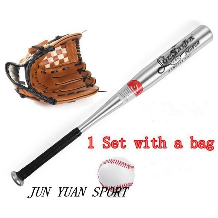 66.49$  Buy here - http://alikp9.shopchina.info/go.php?t=32719256275 - 1set Aluminum beisbol Baseball Bat bate taco de basebol beisebol softball 24 inches glove 10.5 right left kids with a bag  #aliexpress