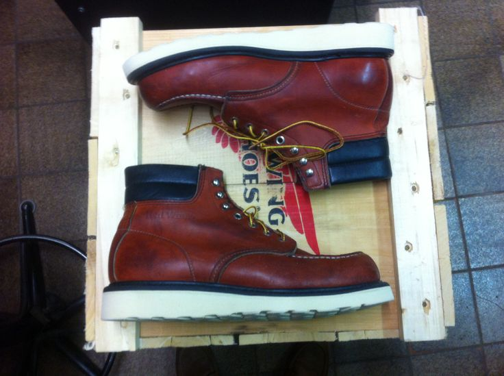 The Iconic Red Wing 8804 Boot Customized With A White