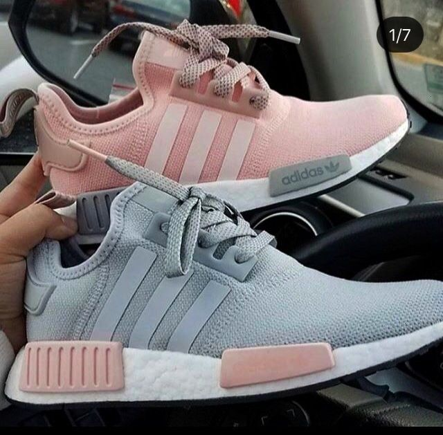 Adidas Originals Nmd Grau Pink Grey Pink Fot Adidas Chaussure Fot Grau Grey Nmd Originals Pink Casual Sport Shoes Trending Shoes Nmd Shoes