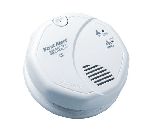 BRK Electronics - SC7010B 120V AC/DC Photo Smoke/CO Combo Alarm