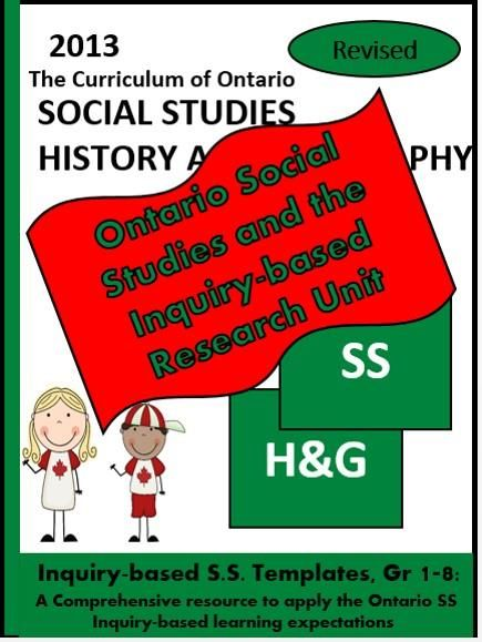 Ontario Social Studies and the Inquiry Process, Grades 1-8 - This document is…