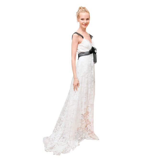 Black and White See more Elizabeth Fillmore wedding dresses.
