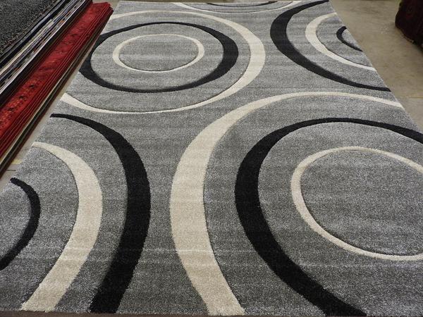 Large Circles Design Modern Turkish Rug Size: 240 x 330cm