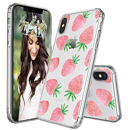 info for 1dd47 4e2f1 iPhone X Case, iPhone 10 Case, MOSNOVO Cute Strawberry Pattern Clear ...
