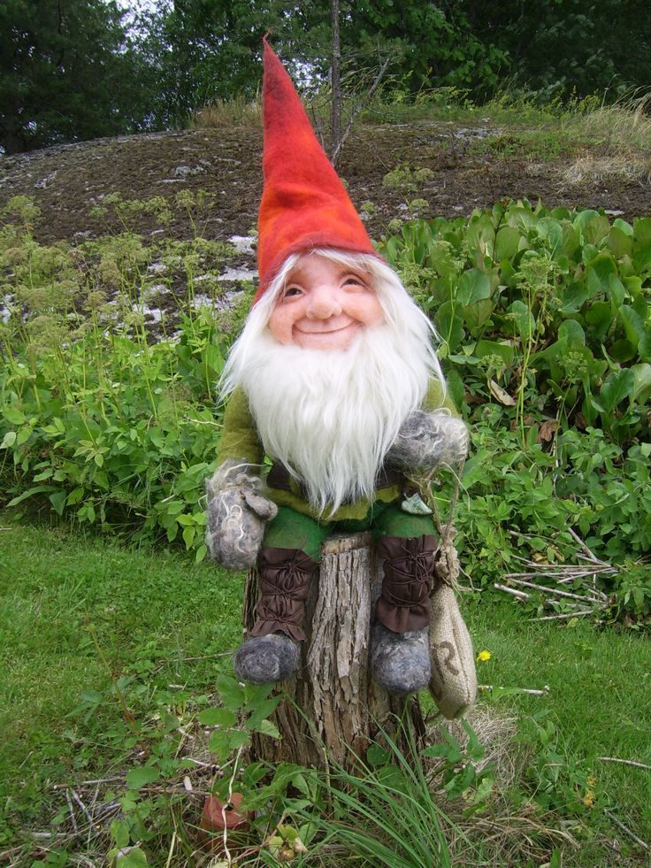 Felted Finnish gnome