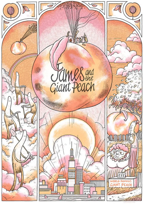 James and the Giant Peach Art Print by LukeDrozd on Etsy, £30.00