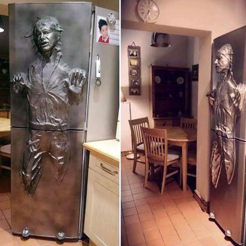 Wonderful Han Solo Frozen In Carbonite Refrigerator