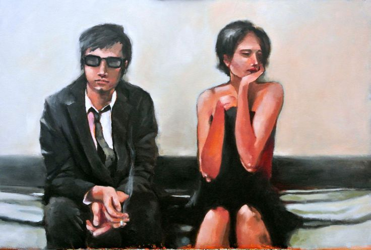 End Of The Line by Mila Posthumus. http://www.stateoftheart.co.za/art/painting/end-of-the-line-by-mila-posthumus/3084