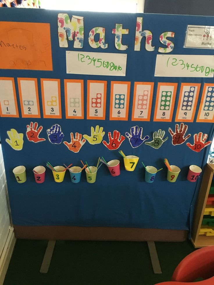 Maths wall in eyfs, cornerstones curriculum, eyfs, foundation stage, reception classroom, display, topic, number, adding, counting, number recognition, writing numbers, display childrens work