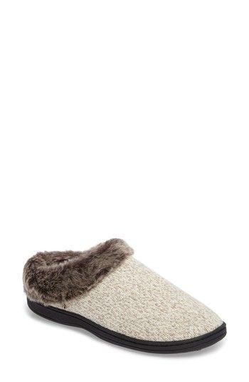 ACORN CHINCHILLA FAUX FUR SLIPPER. #acorn #shoes #