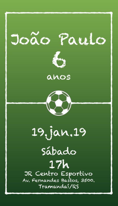 Convite Festa Futebol Campo Bola Ao Centro Festa De Futebol