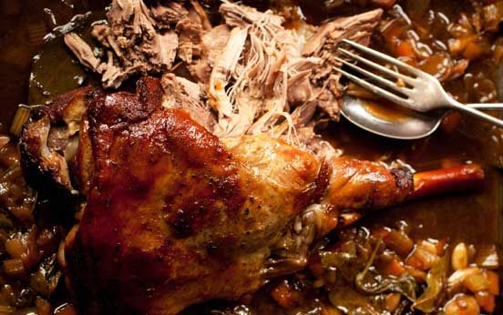 Seven-hour leg of lamb recipe - skinny french kitchen Harry Eastwood. I cook it in the slow cooker