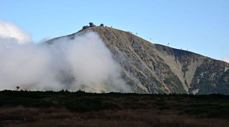 Pohled na nejvyšší horu České republiky.