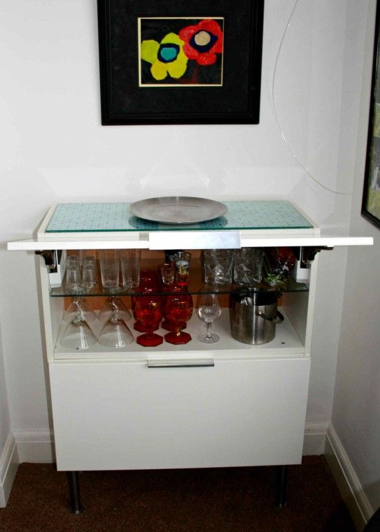 Http Www Ikeahackers Net   Kitchen Wall Cabinet To Modern Mini Bar  Html