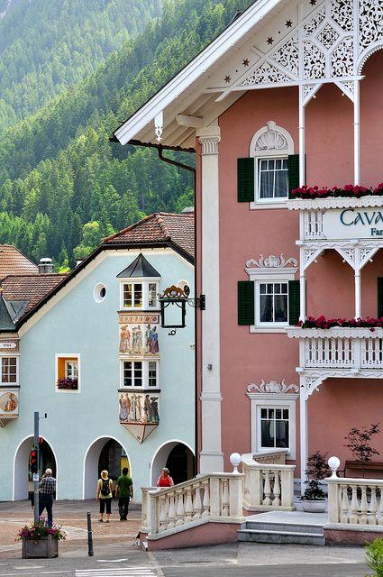 ~Ortisei , South - Tyrol province Urtijëi / St. Ulrich in Gröden / Ortisei by bautisterias, Trentino, Alto Adige region Italy~