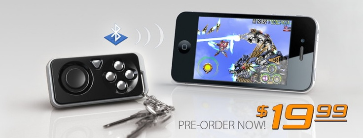 iMpulse Controller.  A controller for iPhone gaming that provides external buttons on a keychain.: Photo Shots, Impulse Iphone, Game Controller, Keys, Impulse Controller