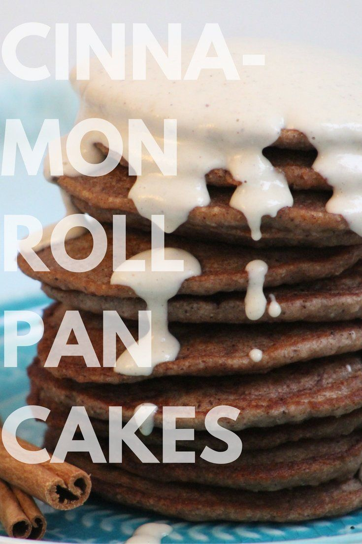 "Vegan, Gluten free, Pancakes Best Ever Cinnamon Roll Pancakes with Cardmom infused ""Icing"""