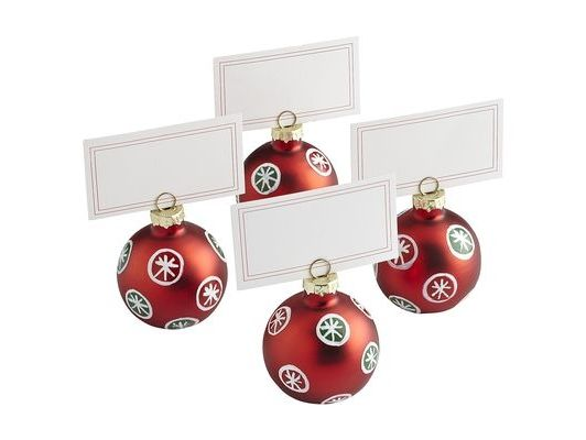 Ornament Placecard Holder Set
