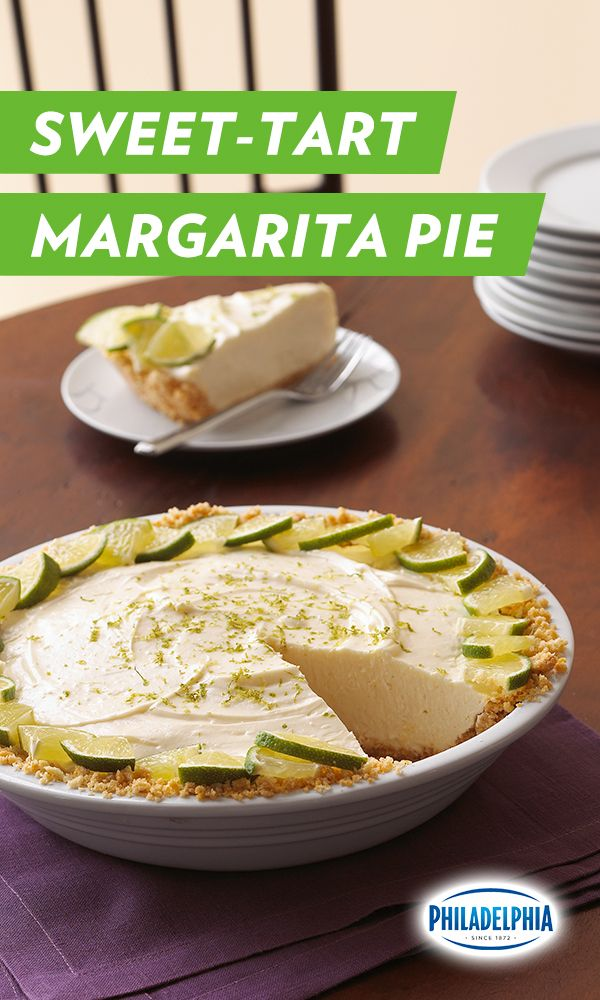 When it's patio weather, nothing beats a cold margarita— except margarita pie. This easy dessert's perfect combination of creamy, sweet and tart – from Philadelphia Cream Cheese, condensed milk and fresh lemon juice - makes for an afternoon delight come spring or summer.