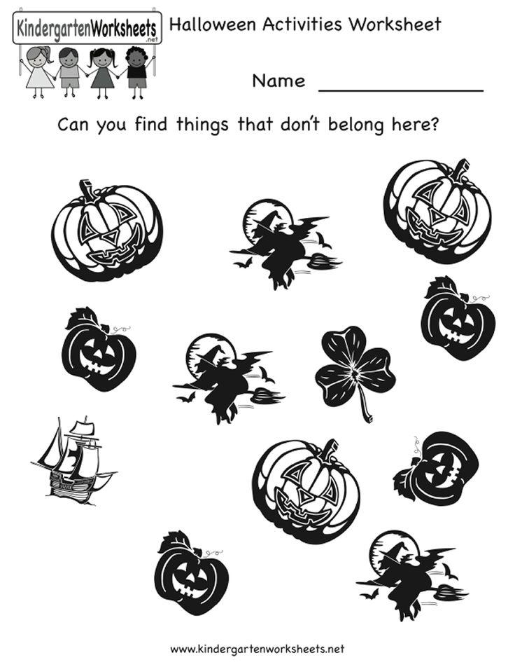 Printable Worksheets halloween worksheets kindergarten : 48 best Printables images on Pinterest   Coloring books, Colouring ...